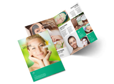 Skin Care Clinic Bi-Fold Brochure Template 2