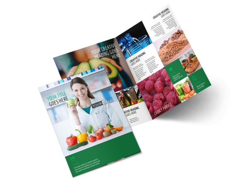Nutritionist & Dietician Bi-Fold Brochure Template 2