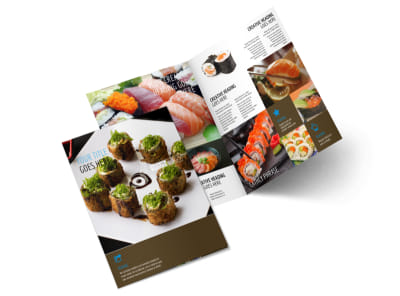 Sushi Restaurant Menu Template 2