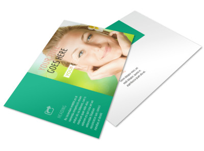 Skin Care Clinic Postcard Template 2
