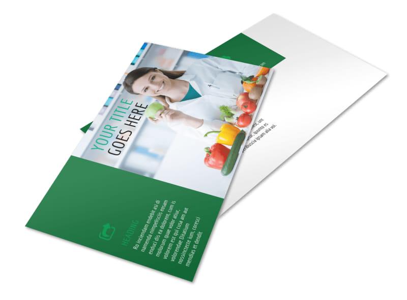 Nutritionist & Dietician Postcard Template 2