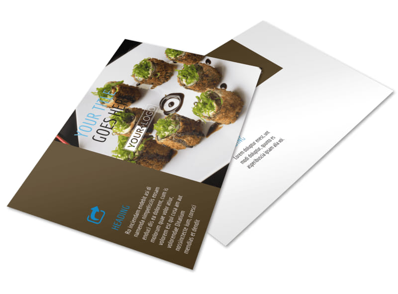 Sushi Restaurant Postcard Template 2