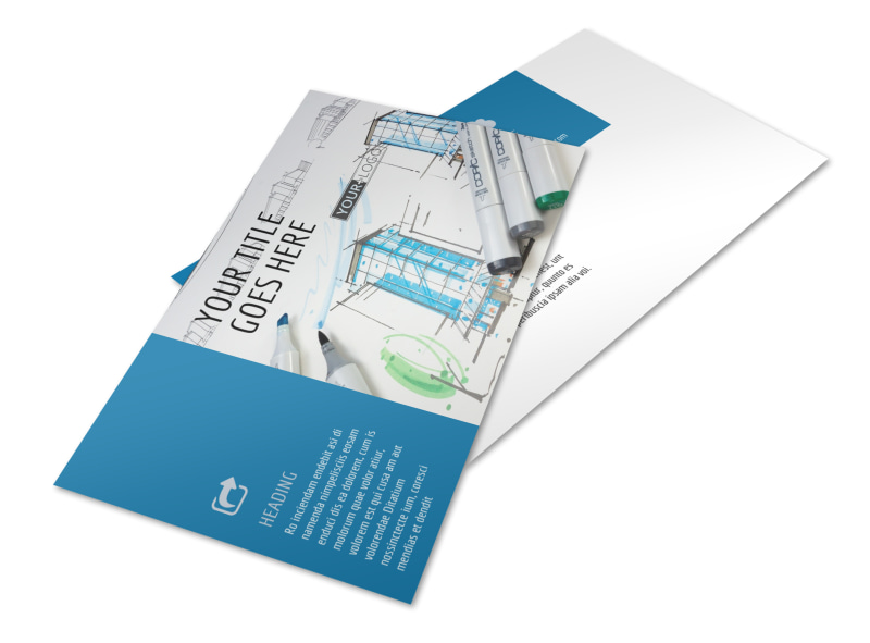 Graphic Design Service Postcard Template 2