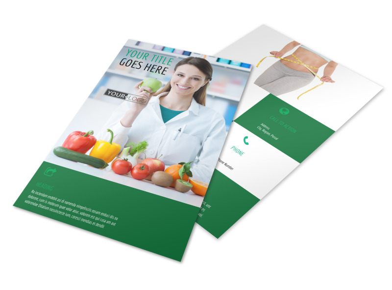 Nutritionist & Dietician Flyer Template 3