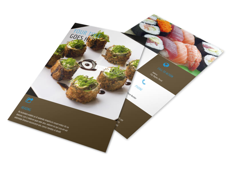 Sushi Restaurant Flyer Template 3