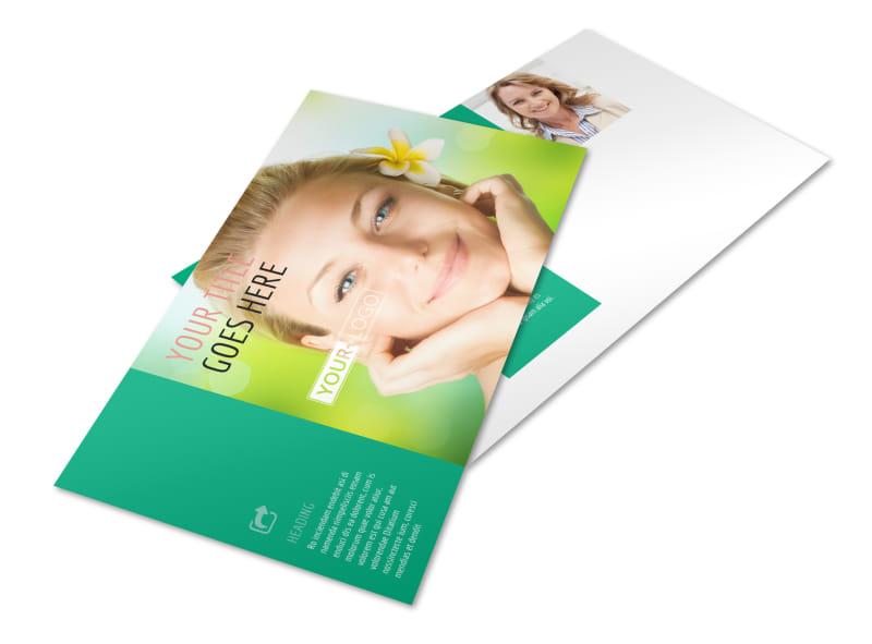 Skin Care Clinic Postcard Template