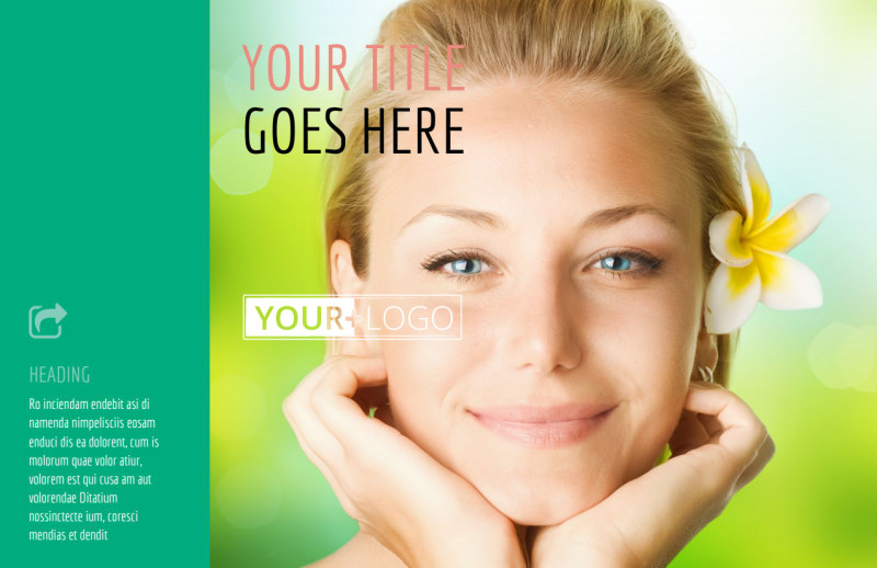 Skin Care Clinic Postcard Template Preview 2