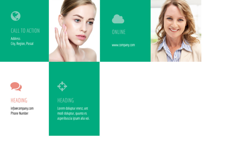 Skin Care Clinic Postcard Template Preview 3