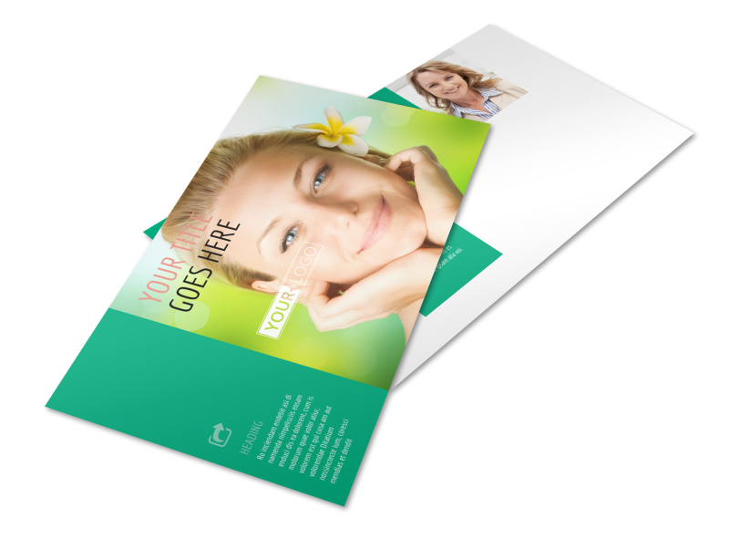 Skin Care Clinic Postcard Template Preview 1