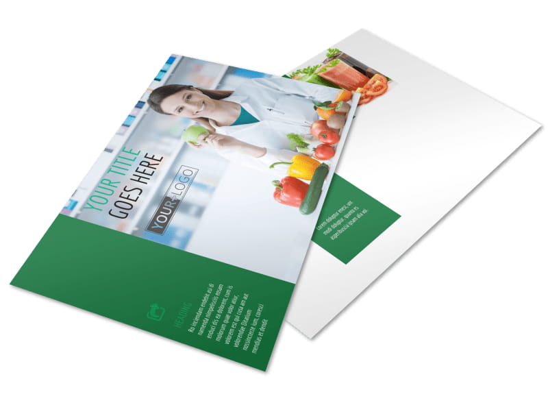 Nutritionist & Dietician Postcard Template