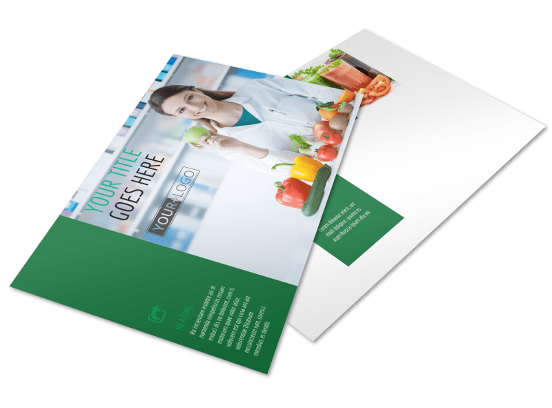 Dietitian Nutritionist Postcard Template Preview 1