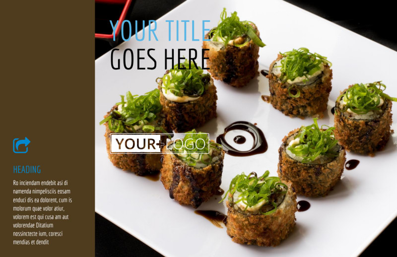 Sushi Restaurant Postcard Template Preview 2