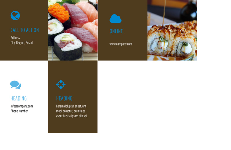 Sushi Restaurant Postcard Template Preview 3