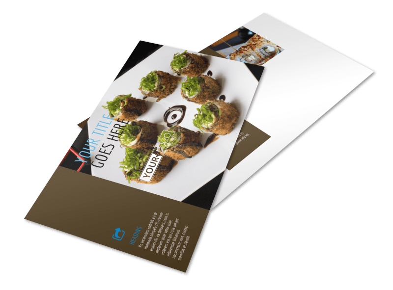 Sushi Restaurant Postcard Template Preview 1