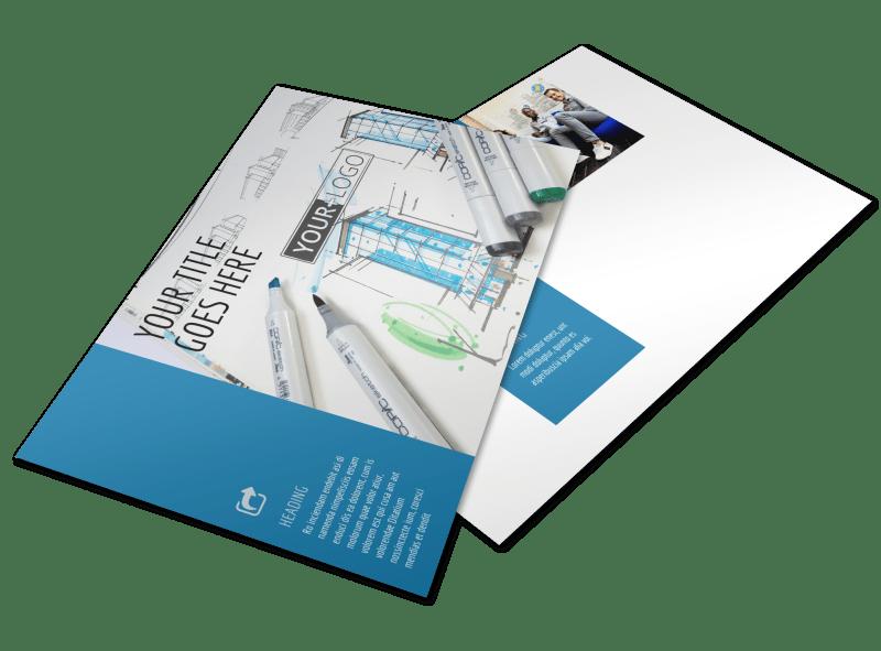 Graphic Design Service Postcard Template Preview 1
