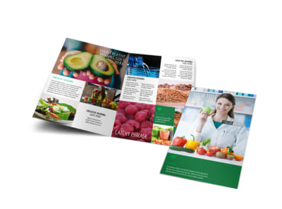 Nutritionist & Dietician Bi-Fold Brochure Template preview