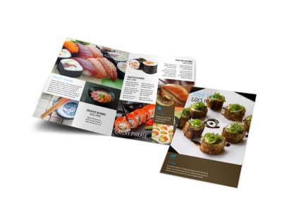 Sushi Restaurant Bi-Fold Brochure Template