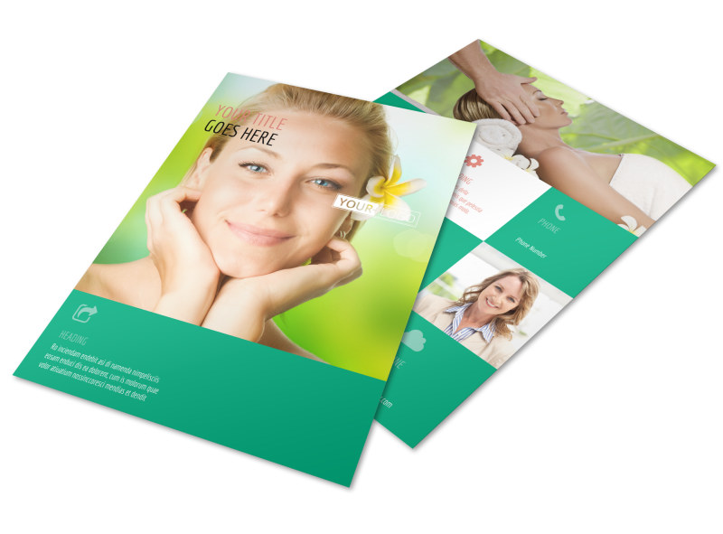 skin care clinic flyer template