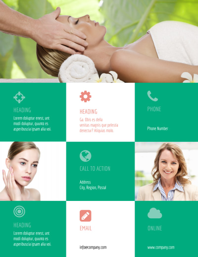 Skin Care Clinic Flyer Template Preview 2