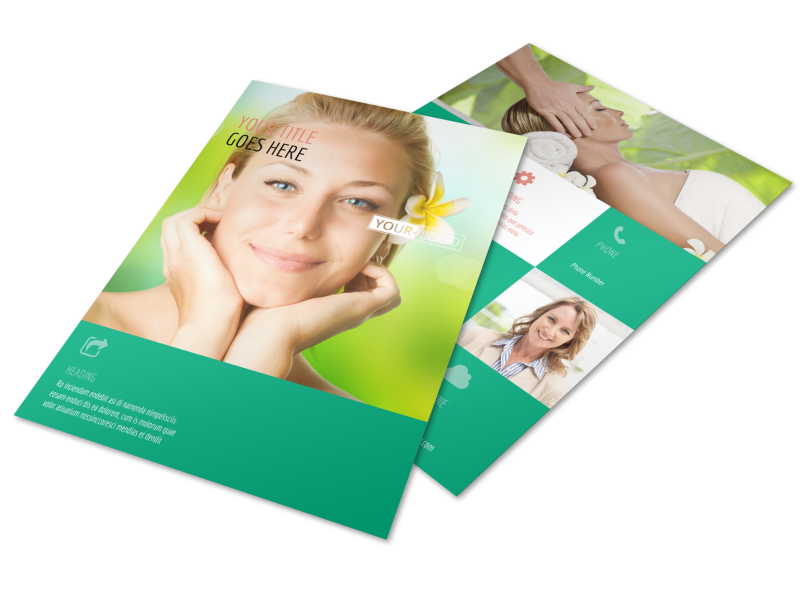 Skin Care Clinic Flyer Template Preview 1