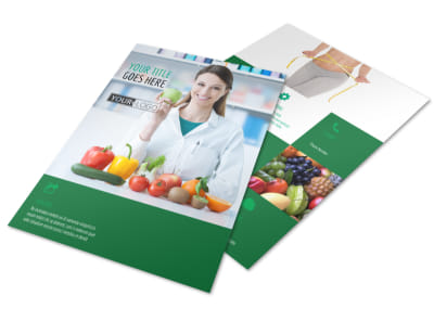 Nutritionist & Dietician Flyer Template preview