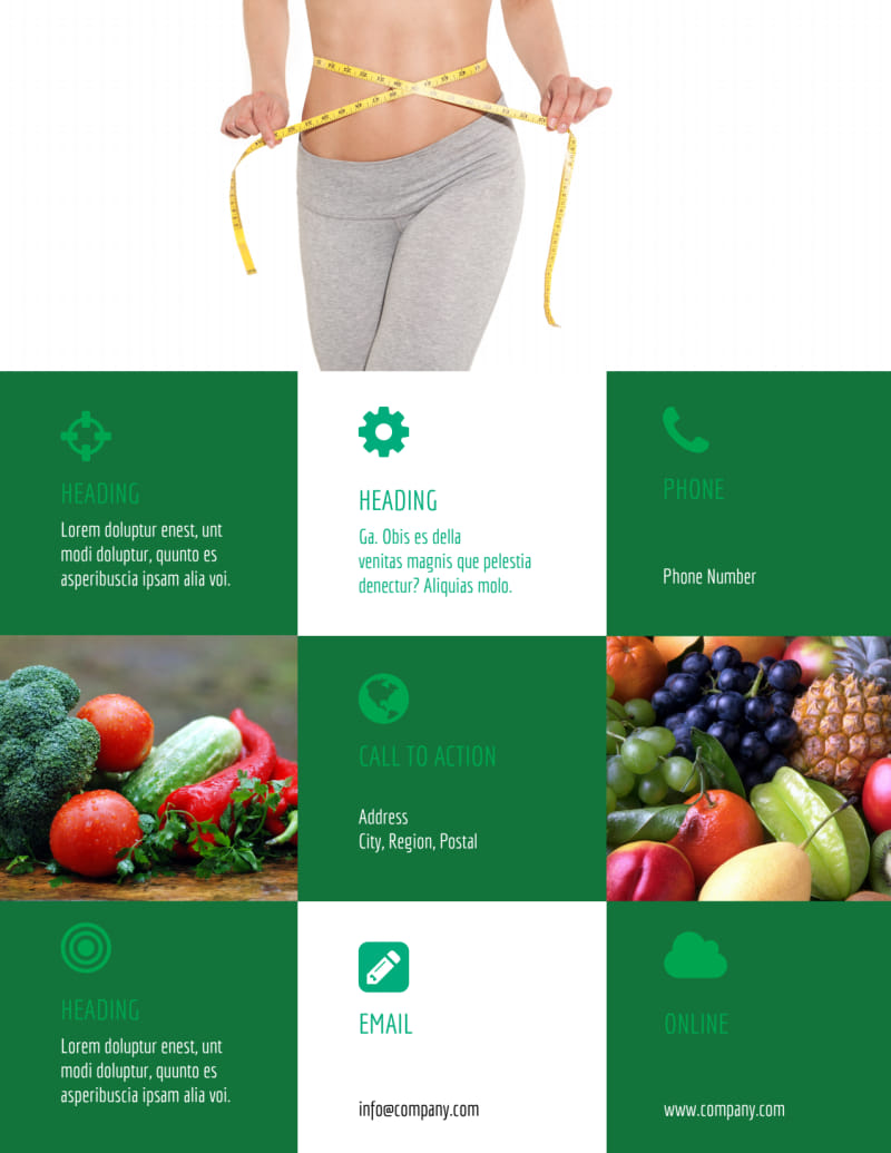 Dietitian Nutritionist Flyer Template Preview 3