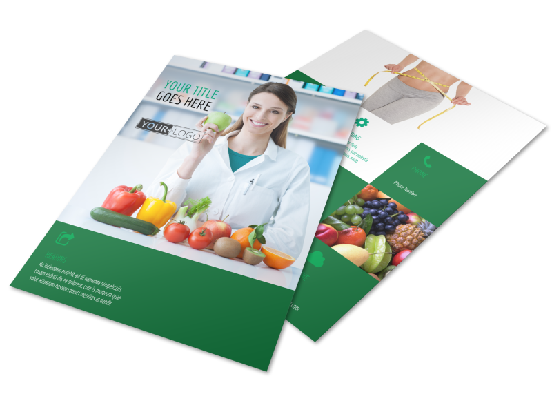 Dietitian Nutritionist Flyer Template Preview 1