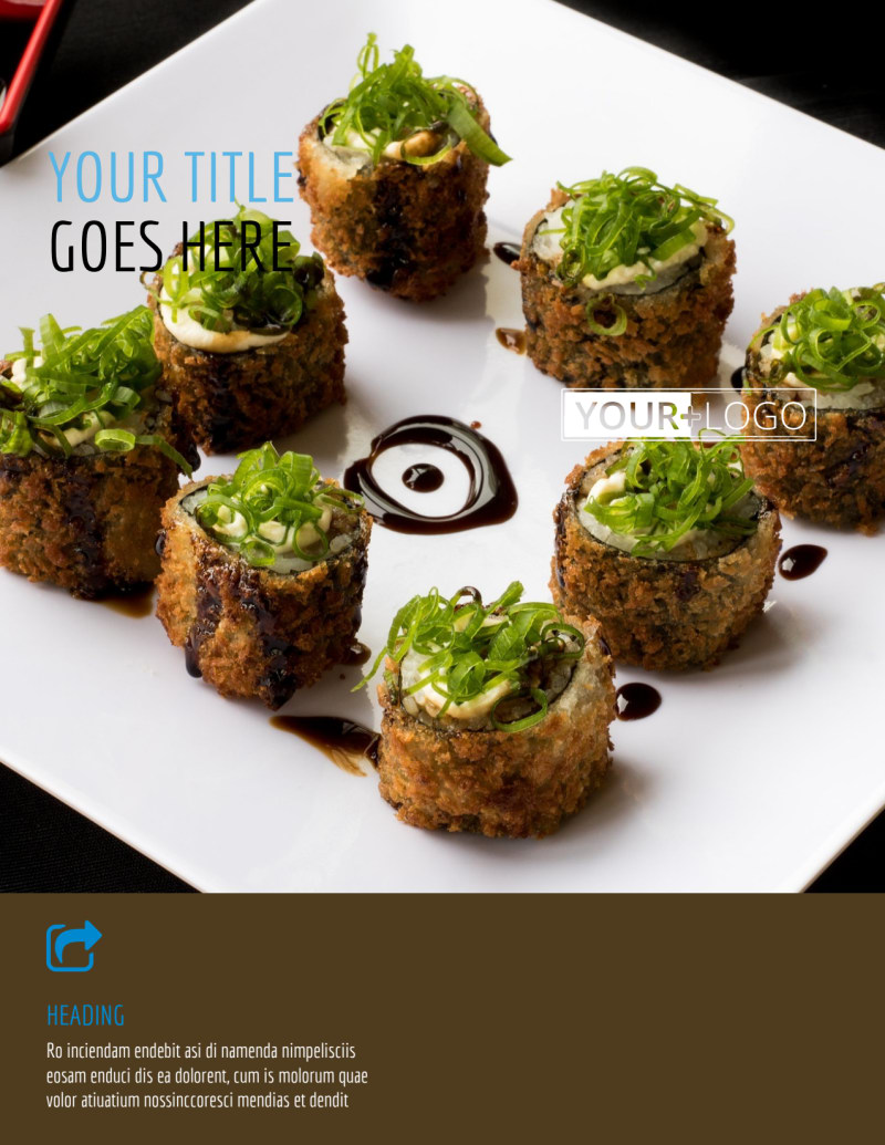 Sushi Restaurant Flyer Template Preview 2