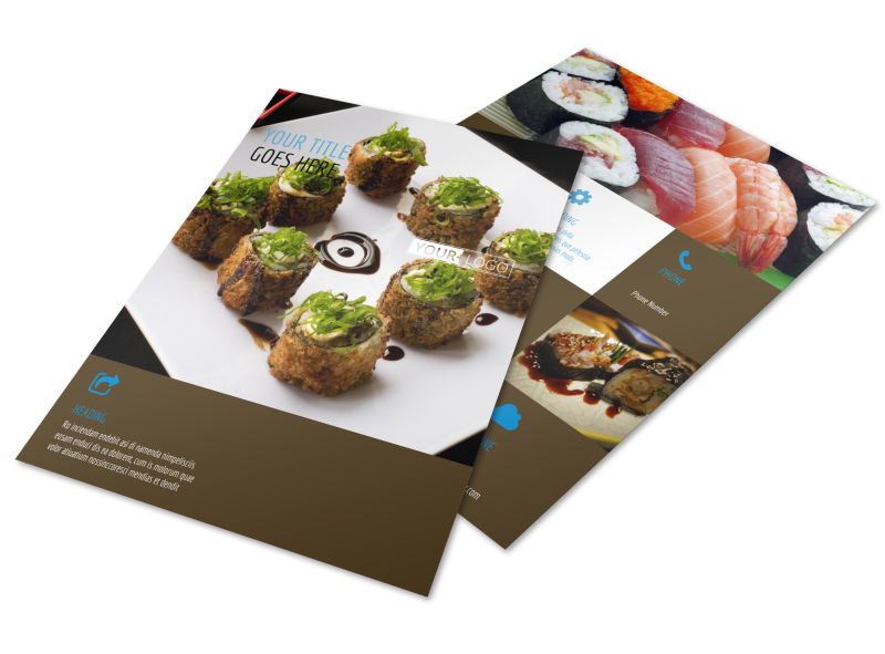 Sushi Restaurant Flyer Template Preview 1
