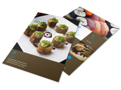 Sushi Restaurant Flyer Template preview