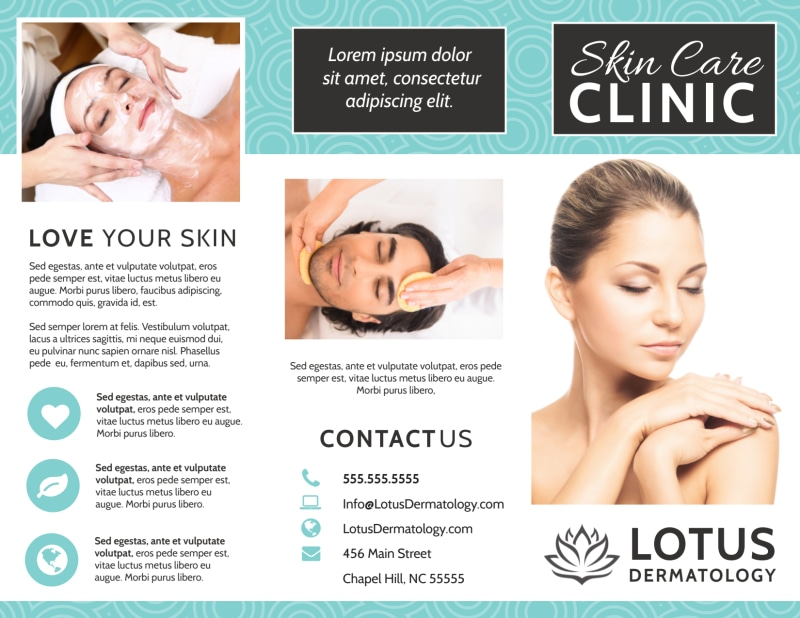 Skin Care Clinic Brochure Template Preview 2