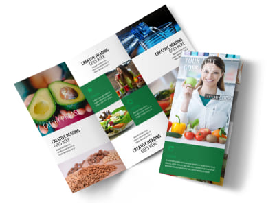 Nutritionist & Dietician Tri Fold Brochure Template preview