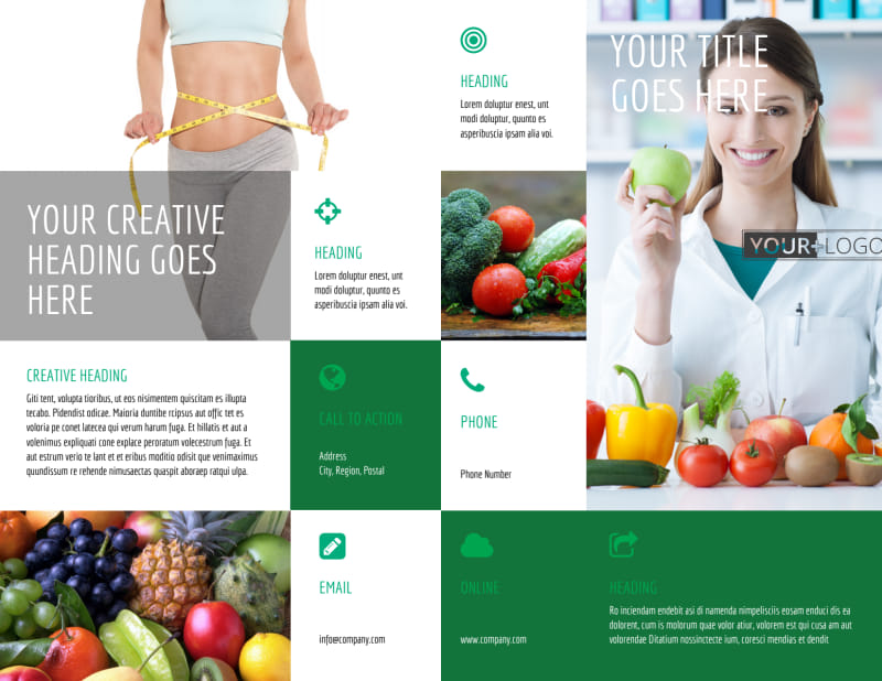 Dietitian Nutritionist Brochure Template Preview 2