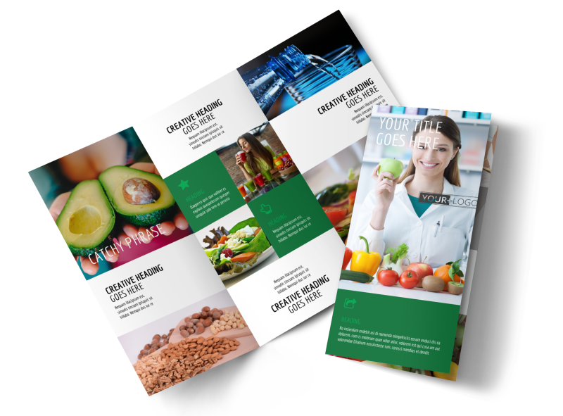 Dietitian Nutritionist Brochure Template Preview 1