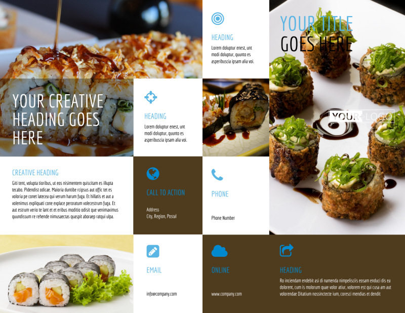 Sushi Restaurant Brochure Template Preview 2