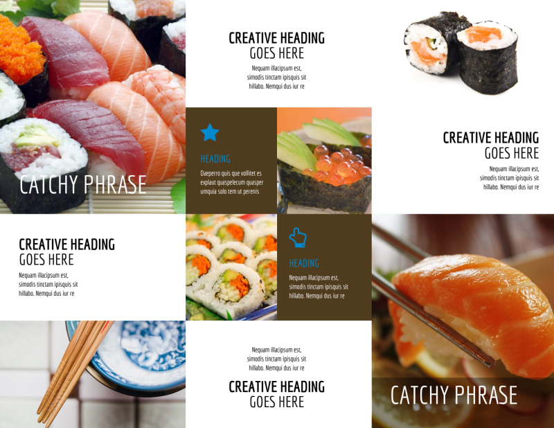 Sushi Restaurant Brochure Template Preview 3