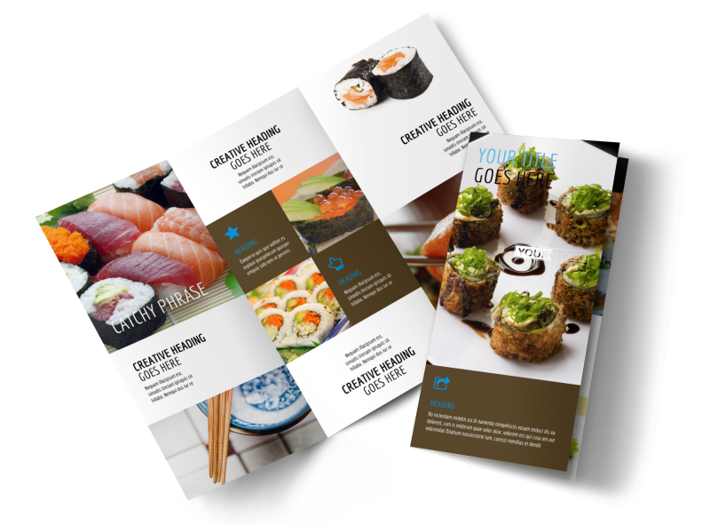 Sushi Restaurant Brochure Template Preview 1