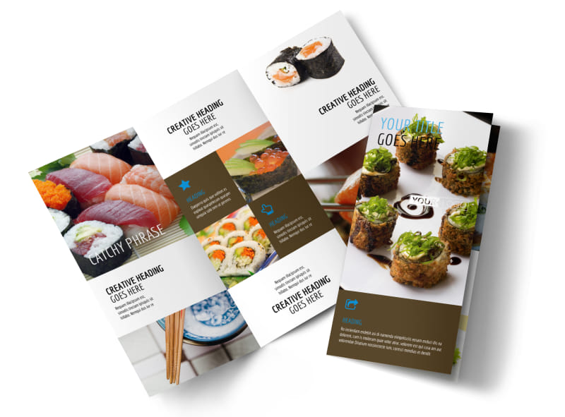 Sushi Restaurant Brochure Template  Mycreativeshop