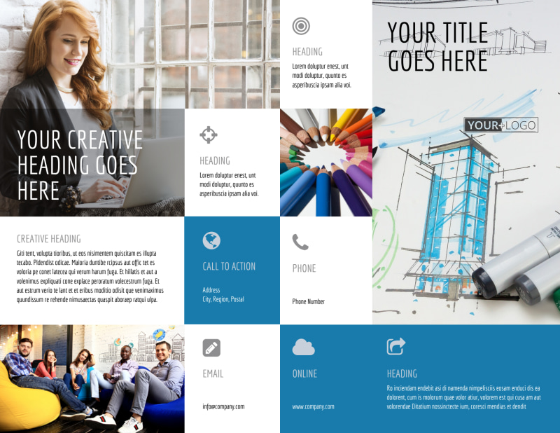 Graphic Design Service Brochure Template Preview 2