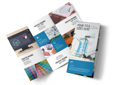 Graphic Design Service Tri-Fold Brochure Template