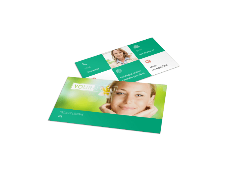 Skin Care Clinic Business Card Template Preview 1