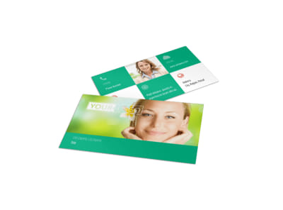 Skin Care Clinic Business Card Template preview