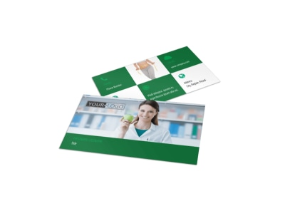 Nutritionist & Dietician Business Card Template preview