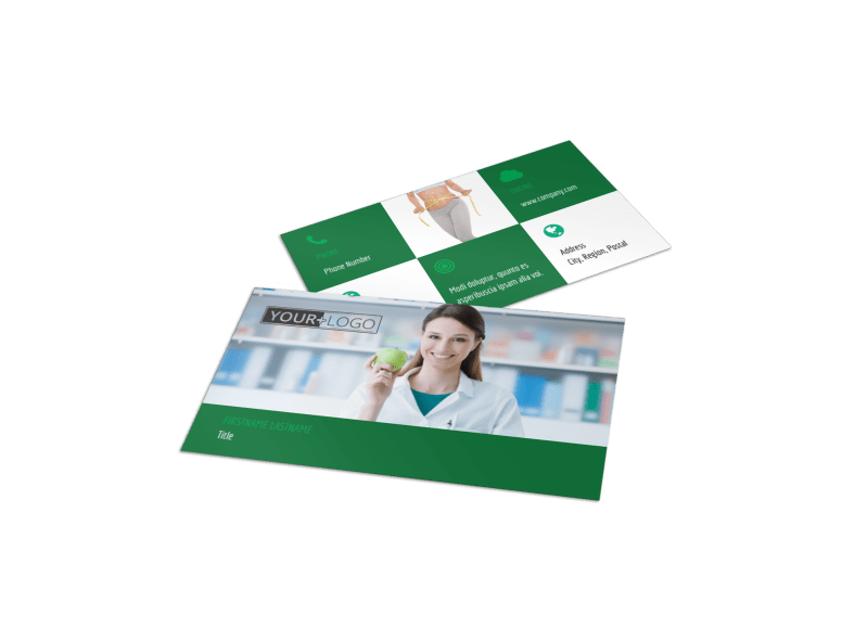 Dietitian Nutritionist Business Card Template Preview 1
