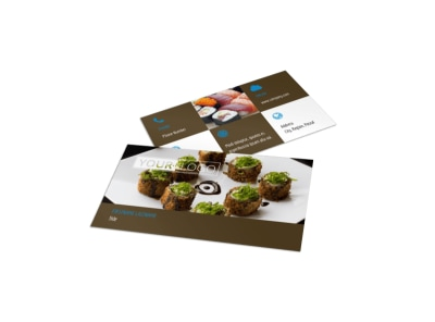 Sushi Restaurant Business Card Template