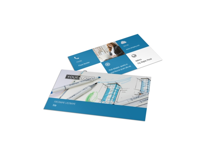Graphic Design Service Business Card Template