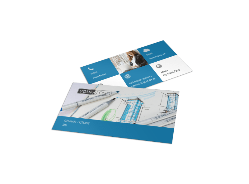 Graphic Design Service Business Card Template Preview 1