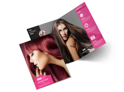 Stylish Hair Salon Bi-Fold Brochure Template 2