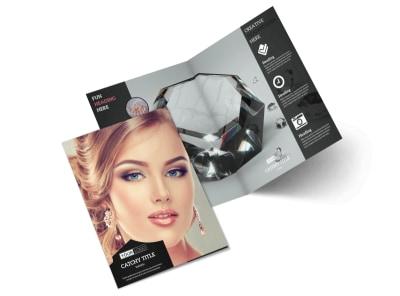 Jeweler & Jewelry Store Bi-Fold Brochure Template 2