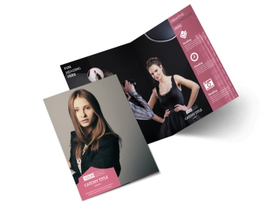 Fashion Agency Bi-Fold Brochure Template 2
